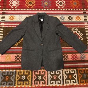 REQUIRMENTS VINTAGE GRAY WOOL BLAZER JACKET